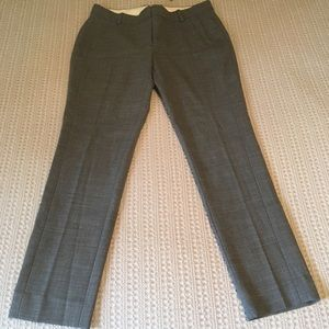 J Crew Grey Straight Leg Work Pant